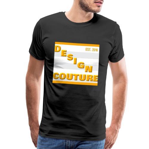DESIGN COUTURE EST 2016 ORANGE - Men's Premium T-Shirt