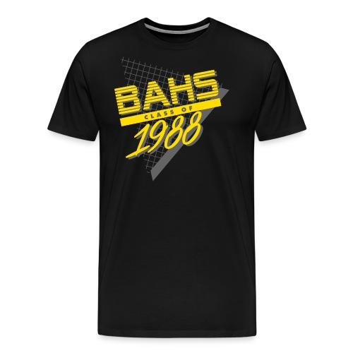 Dark Gray and Yellow Logo for Black Shirt - Men's Premium T-Shirt
