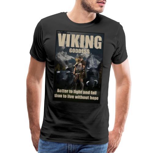Viking Goddess - Viking warrior - Men's Premium T-Shirt