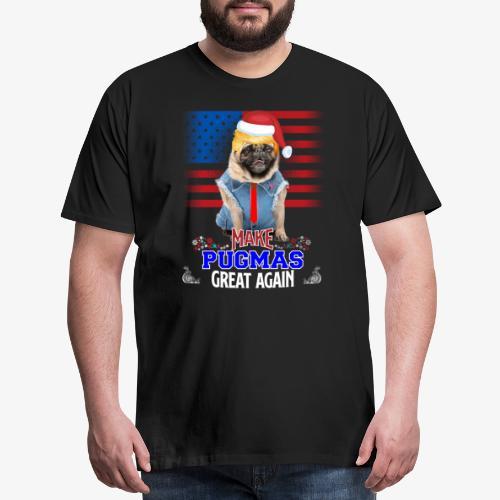 pugmas great again - Men's Premium T-Shirt