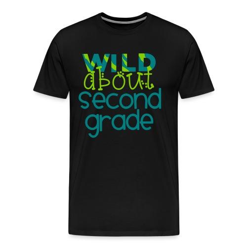 Wild About Second Grade Funky Teacher T-shirt - Men's Premium T-Shirt