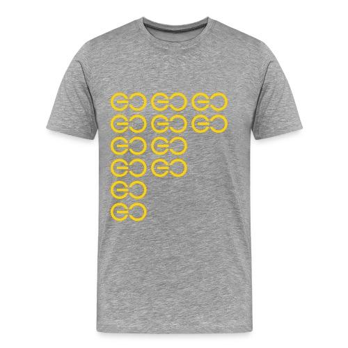 GOGOGO single colour - Men's Premium T-Shirt