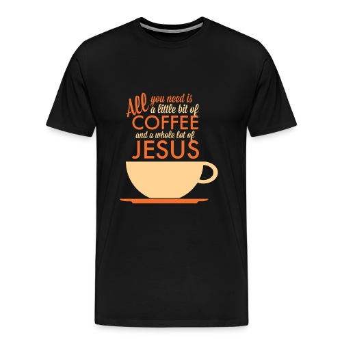 Coffee & Jesus Orange - Men's Premium T-Shirt