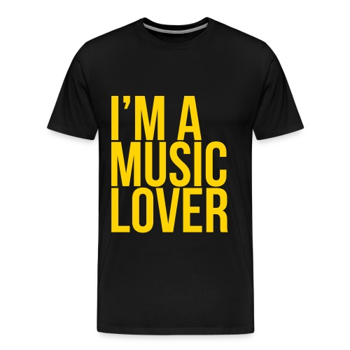 Music Lover big - Men's Premium T-Shirt