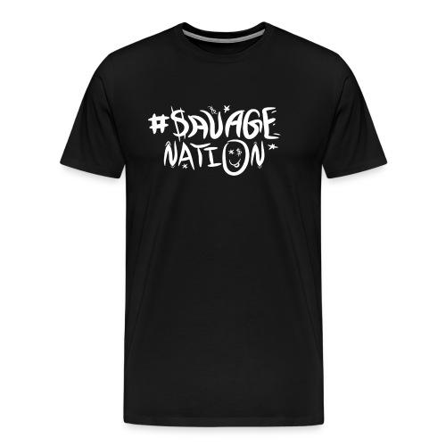 SAVAGE NATION classic white - Men's Premium T-Shirt