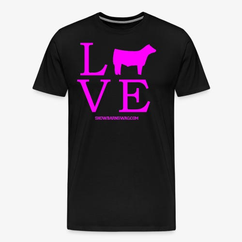 Love Beef Pink - Men's Premium T-Shirt