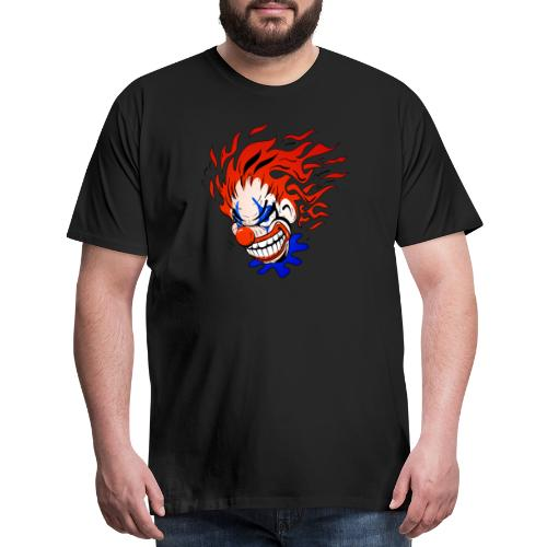 Psycho Crazy Clown Cartoon - Men's Premium T-Shirt