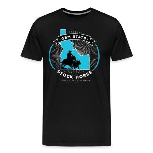Turquose Sunburst Logo - Men's Premium T-Shirt