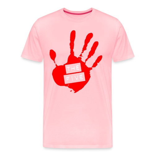 the five logo red on transparent brigh - Men's Premium T-Shirt