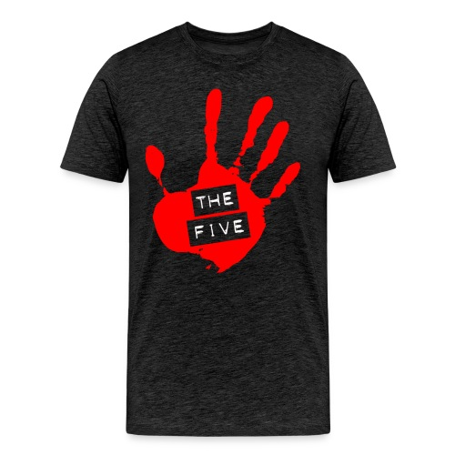 the five logo red on transparent brigh - Men's Premium T-Shirt