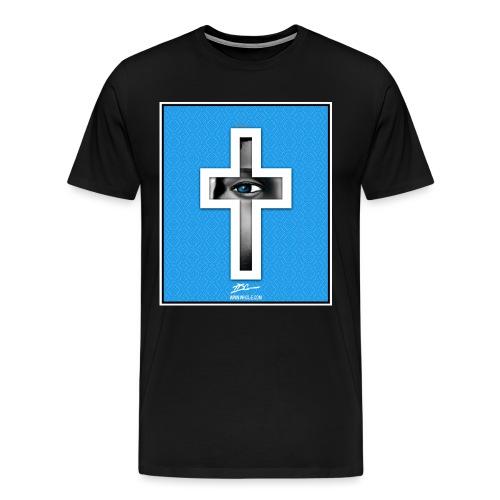 tdg cross light blue - Men's Premium T-Shirt