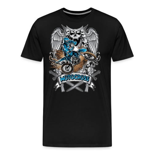 Heraldic Motocross Blue - Men's Premium T-Shirt