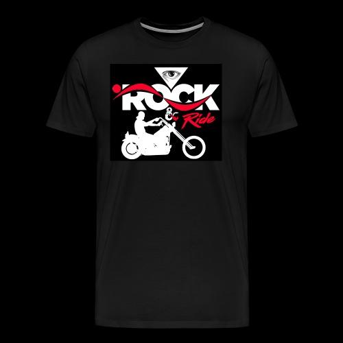 Eye Rock and Ride design black & Red - Men's Premium T-Shirt