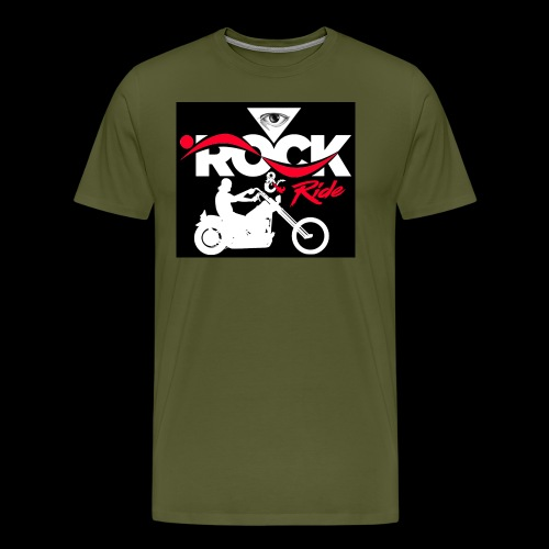 Eye Rock and Ride design black & Red - Men's Premium T-Shirt