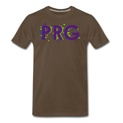 PRG distorted Neon libertarian Design - Men's Premium T-Shirt
