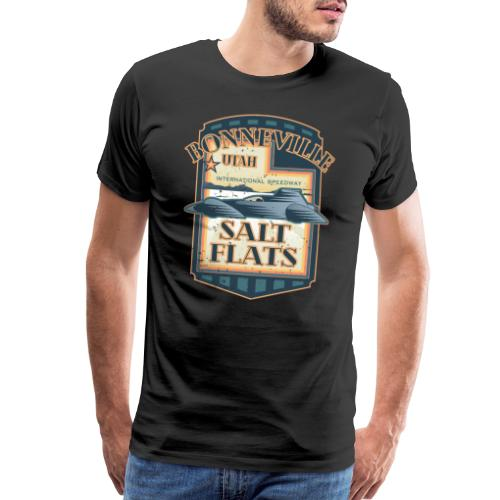 Bonneville Salt Flats Utah Land Speed Retro Design - Men's Premium T-Shirt