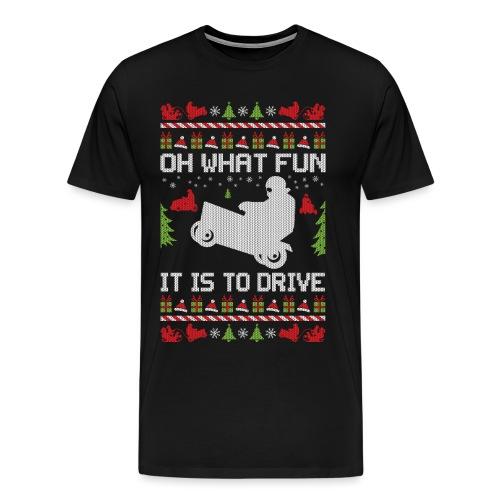 Lawnmower Christmas - Men's Premium T-Shirt