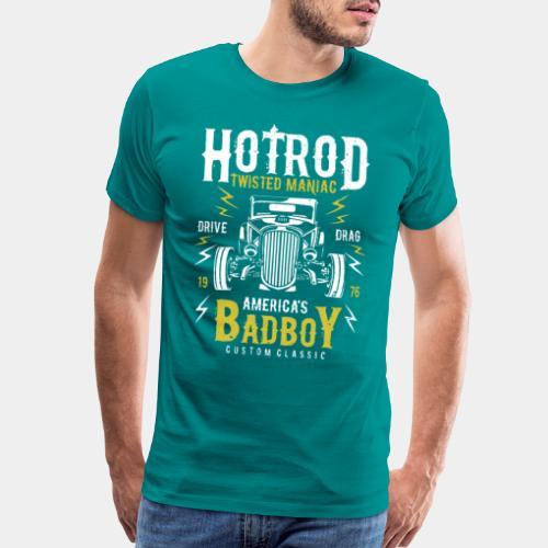 hotrod classic vintage car bad boy - Men's Premium T-Shirt