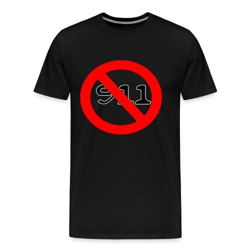 never use 911 records official - Men's Premium T-Shirt