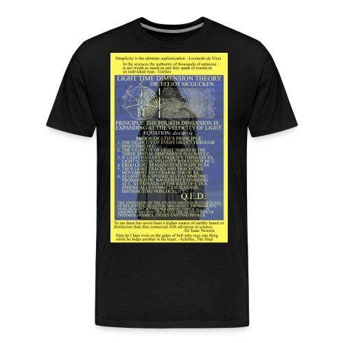 Light Time Dimension Theory: Dr. Elliot McGucken - Men's Premium T-Shirt
