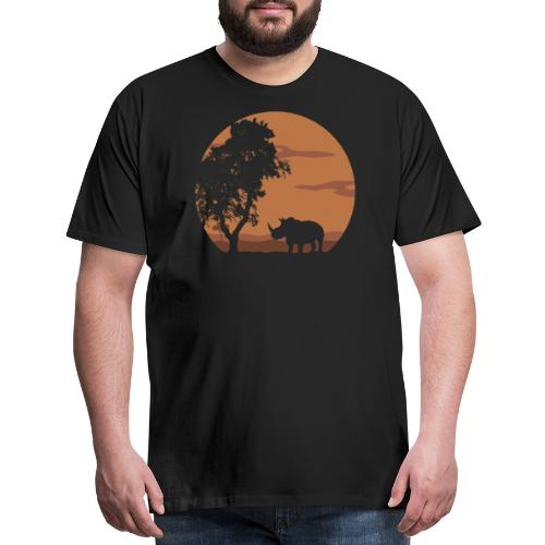 Rhino landscape - Men's Premium T-Shirt