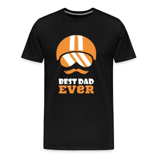Best Motorcycle Dad Ever, Best Dad Ever - Men's Premium T-Shirt