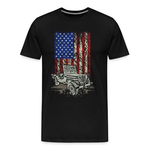 American Flag Wrangler - Men's Premium T-Shirt