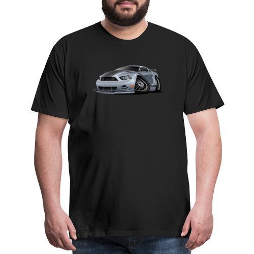 Modern American Muscle Car Cartoon Vector - Men's Premium T-Shirt