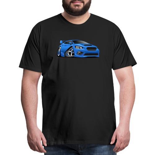 Modern Import Sports Car Cartoon Illustration - Men's Premium T-Shirt