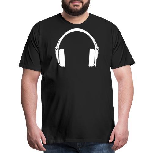 Funky Headphones White - Men's Premium T-Shirt