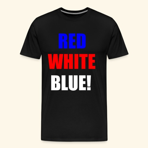 red white blue OCD - Men's Premium T-Shirt