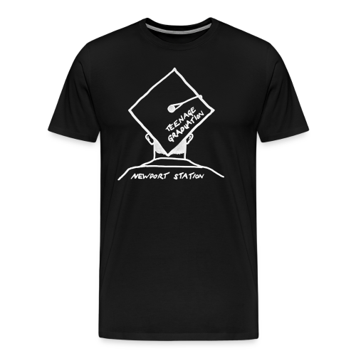 grad cap (etched in white) - Men's Premium T-Shirt