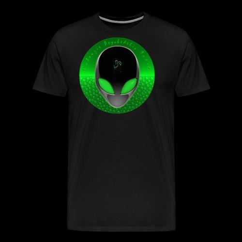 Psychedelic Alien Dolphin Green Cetacean Inspired - Men's Premium T-Shirt