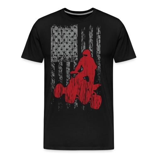 ATV Quad USA Flag Grunge - Men's Premium T-Shirt
