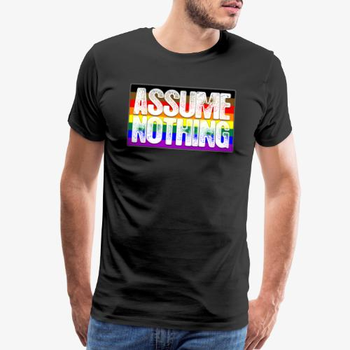 Assume Nothing Philly LGBTQ Gay Pride Flag - Men's Premium T-Shirt