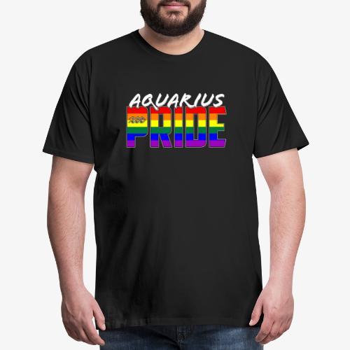 LGBT Aquarius Pride Flag Zodiac Sign - Men's Premium T-Shirt