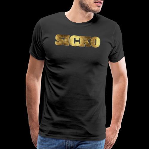 Sicko Gold Name Typography - Men's Premium T-Shirt