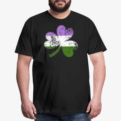 Genderqueer Shamrock Pride Flag - Men's Premium T-Shirt