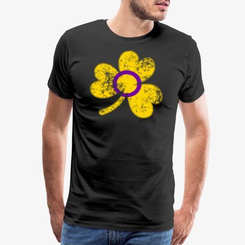 Intersex Shamrock Pride Flag - Men's Premium T-Shirt