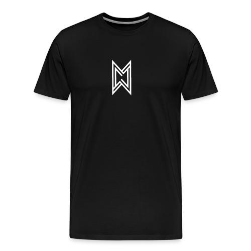 TheMWarrior White Logo Black T-Shirt - Men's Premium T-Shirt