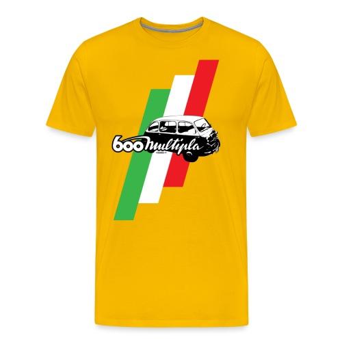 Fiat 600 Multipla script and illustration - - Men's Premium T-Shirt