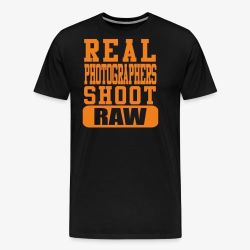 Real Photgs Orange - Men's Premium T-Shirt