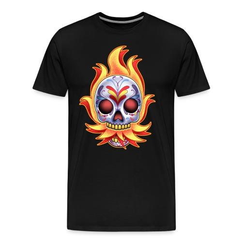 DoD Flame Skull by RollinLow - Men's Premium T-Shirt