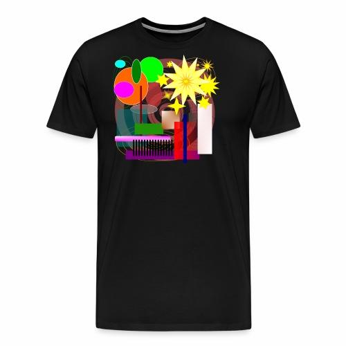 Geometric Booming - Men's Premium T-Shirt