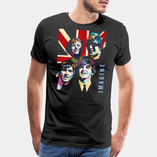 pop art imagine music - Men's Premium T-Shirt