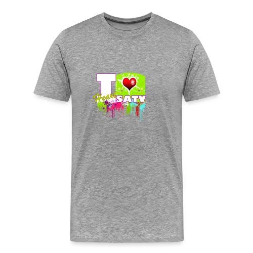 I love SATV - Men's Premium T-Shirt