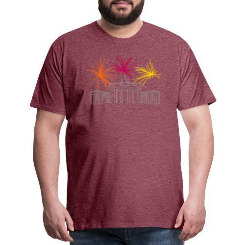 Newyearseve at Brandenburg Gate Berlin - Men's Premium T-Shirt
