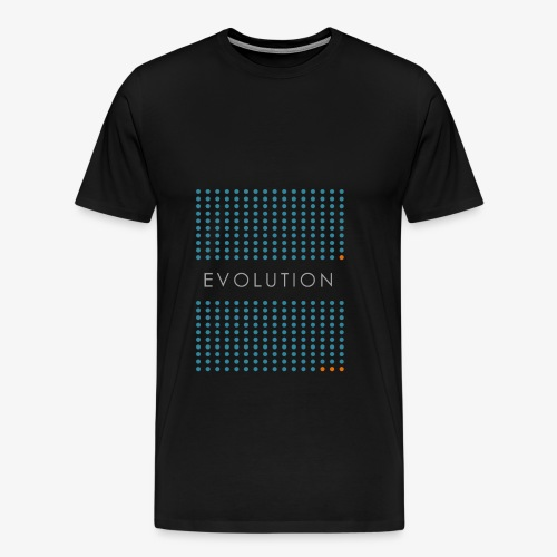 Minimalist design: evolution (dark background) - Men's Premium T-Shirt