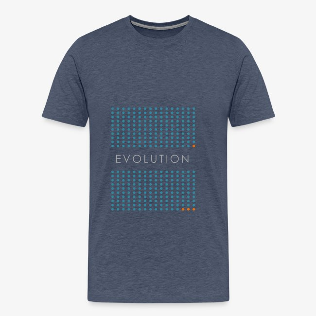 Minimalist design: evolution (dark background)