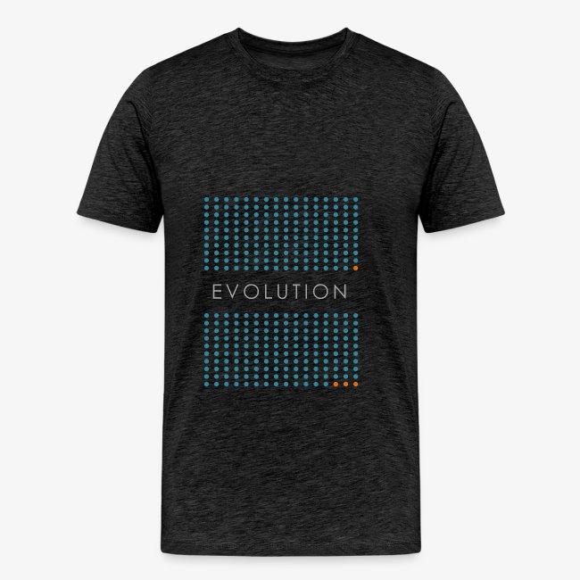 Minimalist design: evolution (dark background)